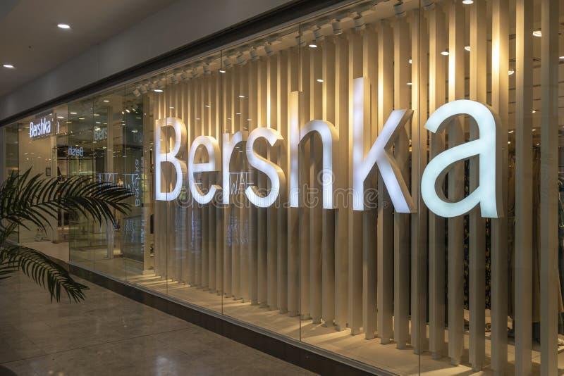 Alicante, Spain - 18 June, 2019: Bershka fashion store in Gran Via Alicante shopping mall. Bershka is Spanish clothing. Alicante, Spain, 18 June, 2019: Bershka stock photos