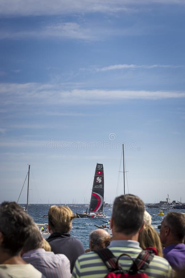 Volvo Ocean Race, October 22th 2017 in the harbour of Alicante in Spain stock photo