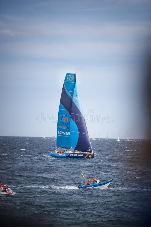 Volvo Ocean Race, October 22th 2017 in the harbour of Alicante in Spain stock images