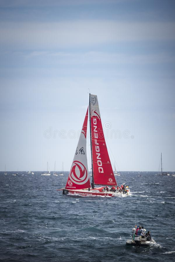 Volvo Ocean Race, October 22th 2017 in the harbour of Alicante in Spain royalty free stock photography