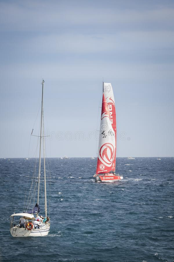 Volvo Ocean Race, October 22th 2017 in the harbour of Alicante in Spain stock photography