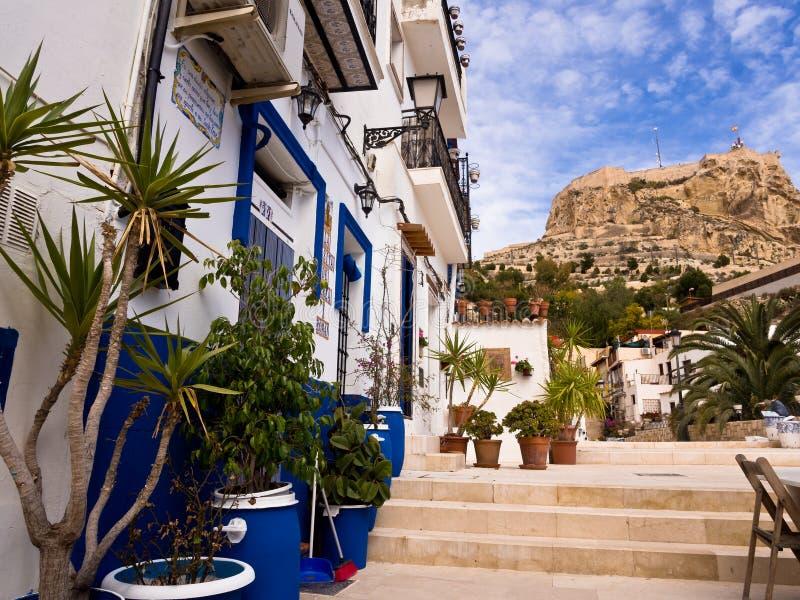 Alicante Stary miasteczko, Hiszpania obraz royalty free