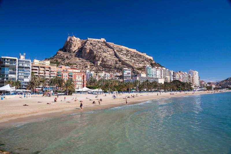 Alicante-Strand lizenzfreies stockfoto