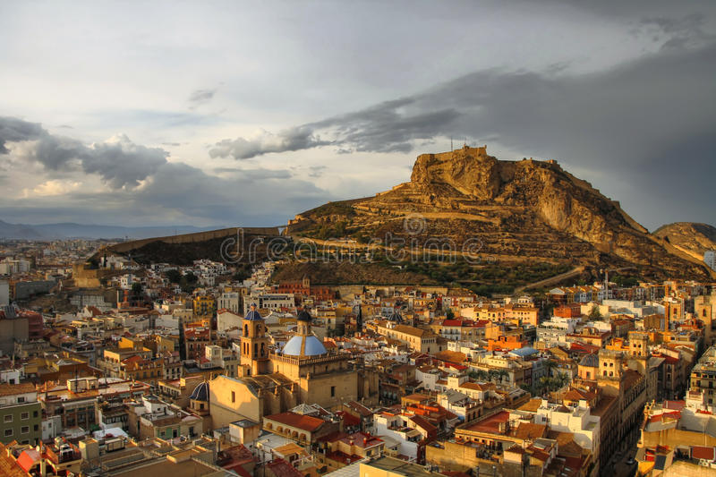 Alicante at sunset stock photo