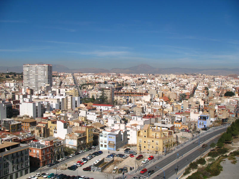 Alicante town spain stock image image of buildings - Stock uno alicante ...