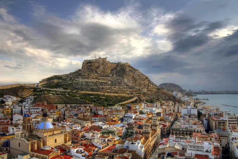 Alicante vers le bas image libre de droits