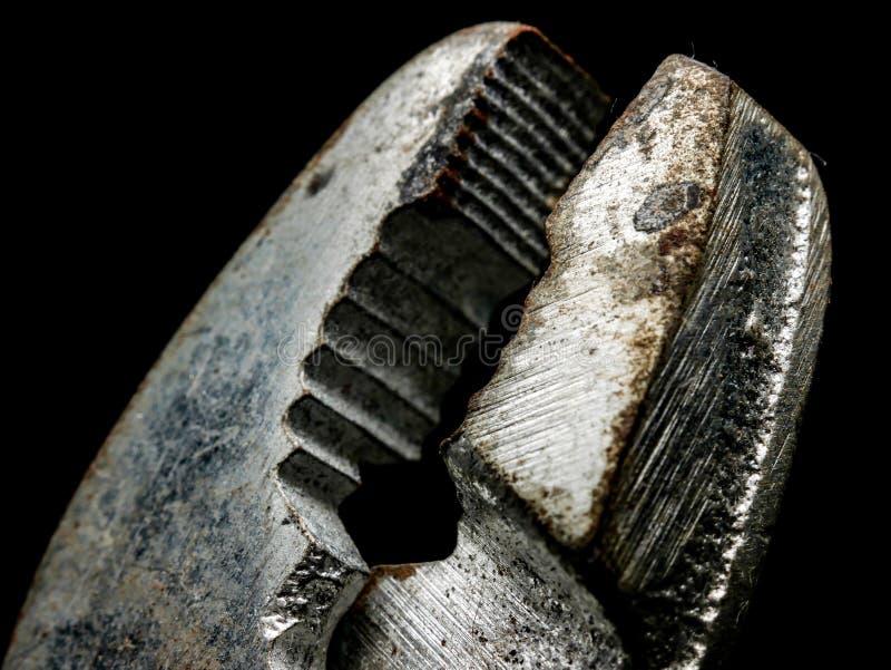 Alicates velhos feitos do aço oxidado fotografia de stock royalty free