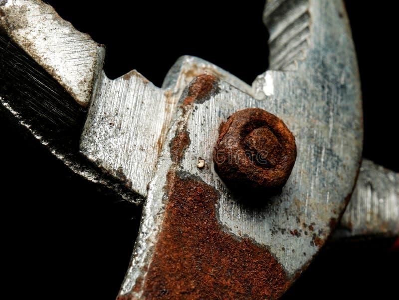 Alicates velhos feitos do aço oxidado imagem de stock royalty free
