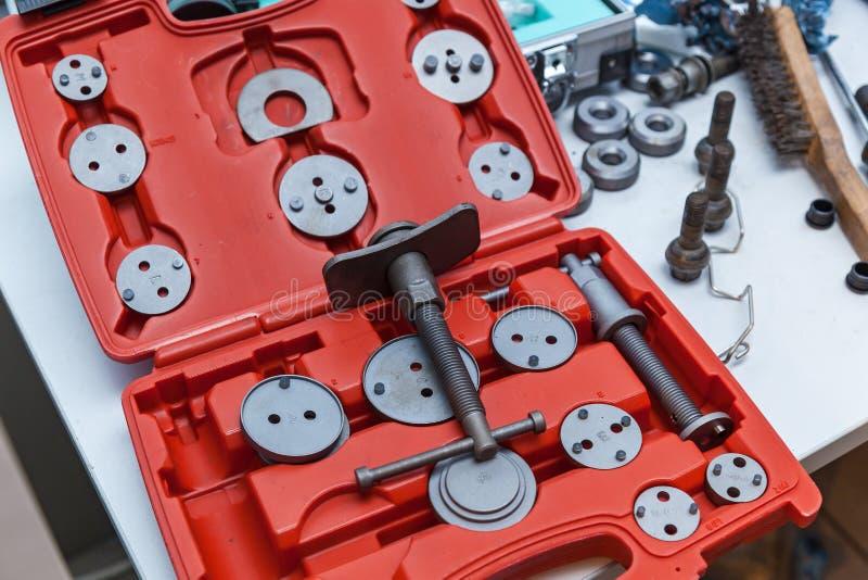 Alicates y herramienta determinada del calibrador especial fotografía de archivo