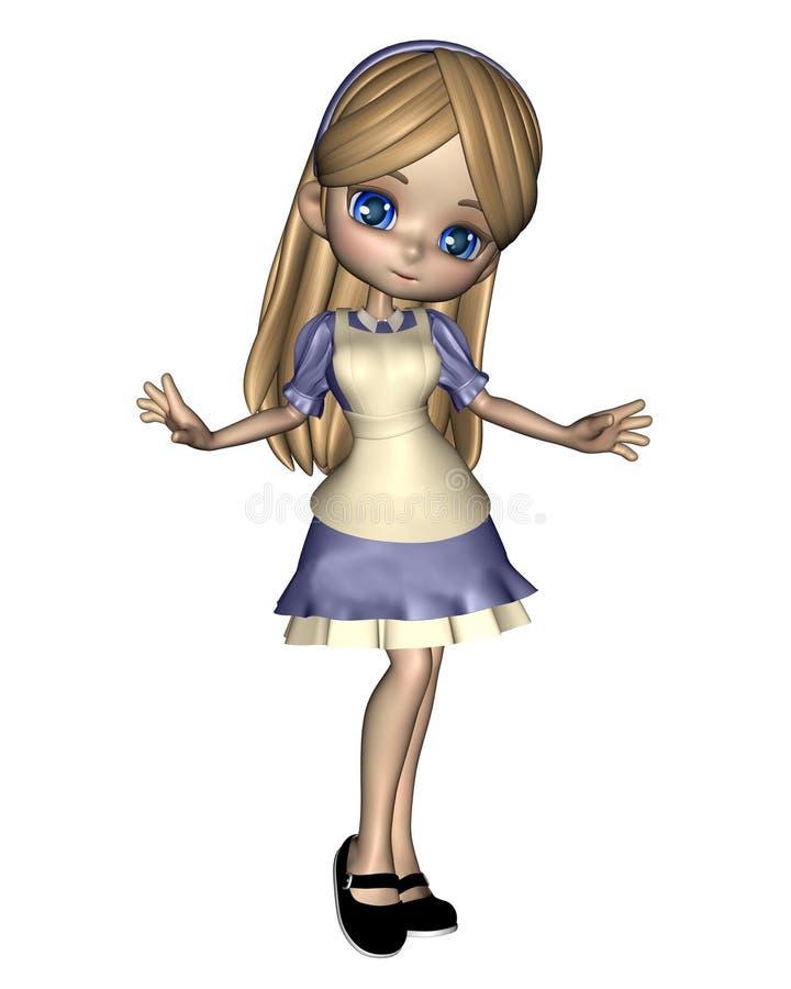 Alice au pays des merveilles - 2 illustration de vecteur