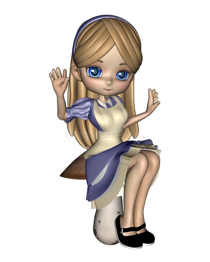 Alice au pays des merveilles - 3 illustration libre de droits