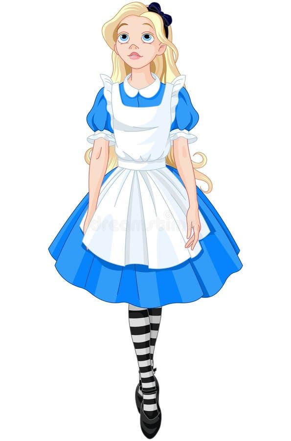 Alice bonita ilustração royalty free