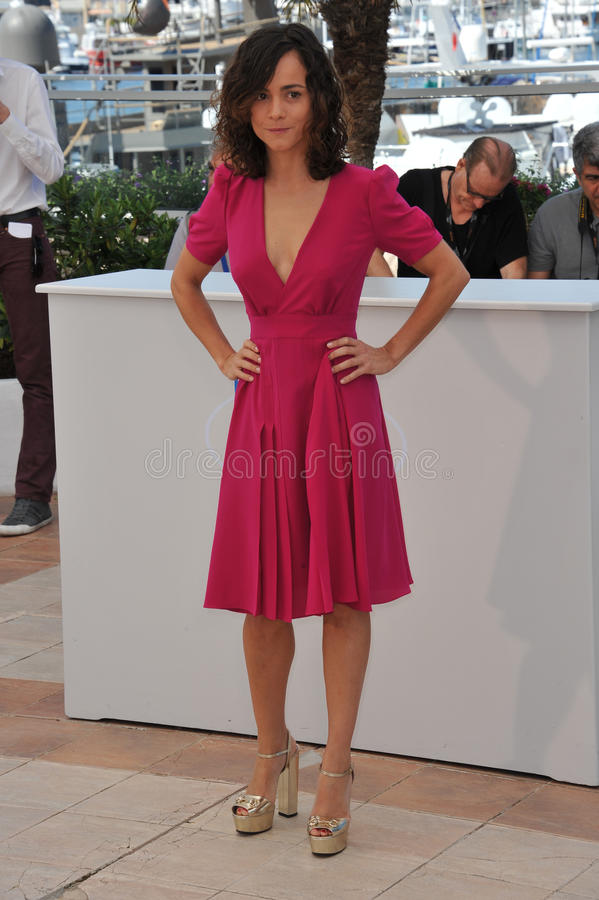 Alice Braga. CANNES, FRANCE - MAY 18, 2014: Alice Braga at the photocall for her movie El Ardor at the 67th Festival de Cannes royalty free stock image