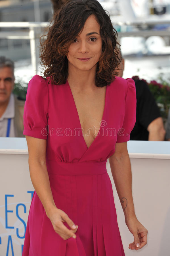 Alice Braga. CANNES, FRANCE - MAY 18, 2014: Alice Braga at the photocall for her movie El Ardor at the 67th Festival de Cannes royalty free stock photo