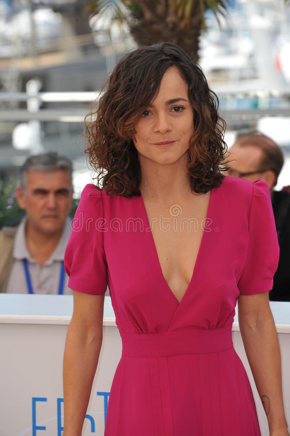 Alice Braga. CANNES, FRANCE - MAY 18, 2014: Alice Braga at the photocall for her movie El Ardor at the 67th Festival de Cannes royalty free stock images
