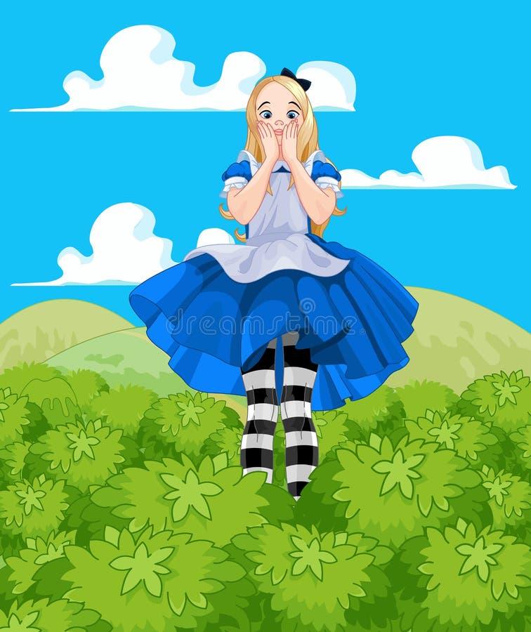 Alice cresce-acima ilustração stock