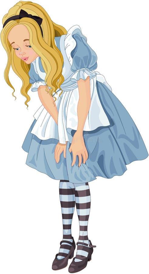 Alice do país das maravilhas ilustração do vetor
