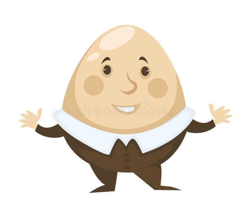 Alice in Ei Märchenlandcharakter Humpty Dumpty stock abbildung