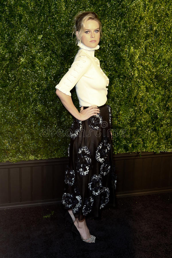 Alice Eve. NEW YORK-APR 24: Alice Eve attends the 12th Annual Tribeca Film Festival Artists Dinner hosted by Chanel at Balthazar Restaurant on April 24, 2017 in stock image