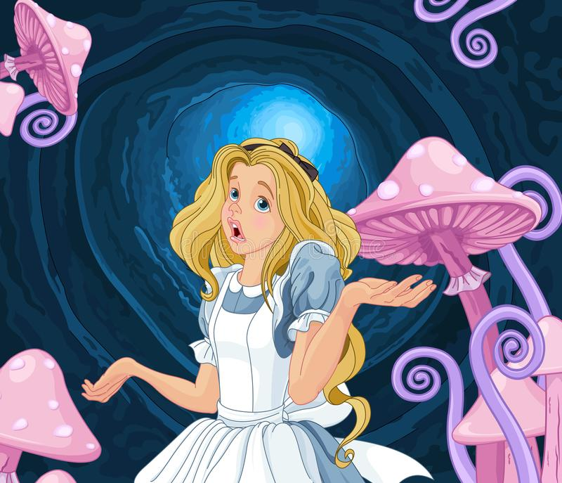 Alice Extremely Confused lizenzfreie abbildung