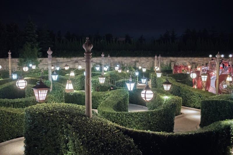 Alice in het Labyrint van het Sprookjesland in Shanghai Disneyland, China royalty-vrije stock fotografie