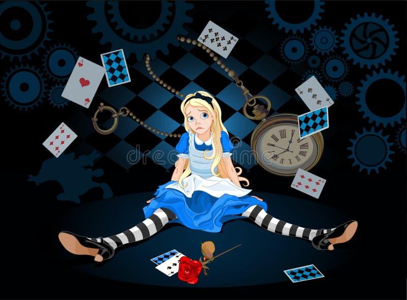 Alice i överraskning vektor illustrationer