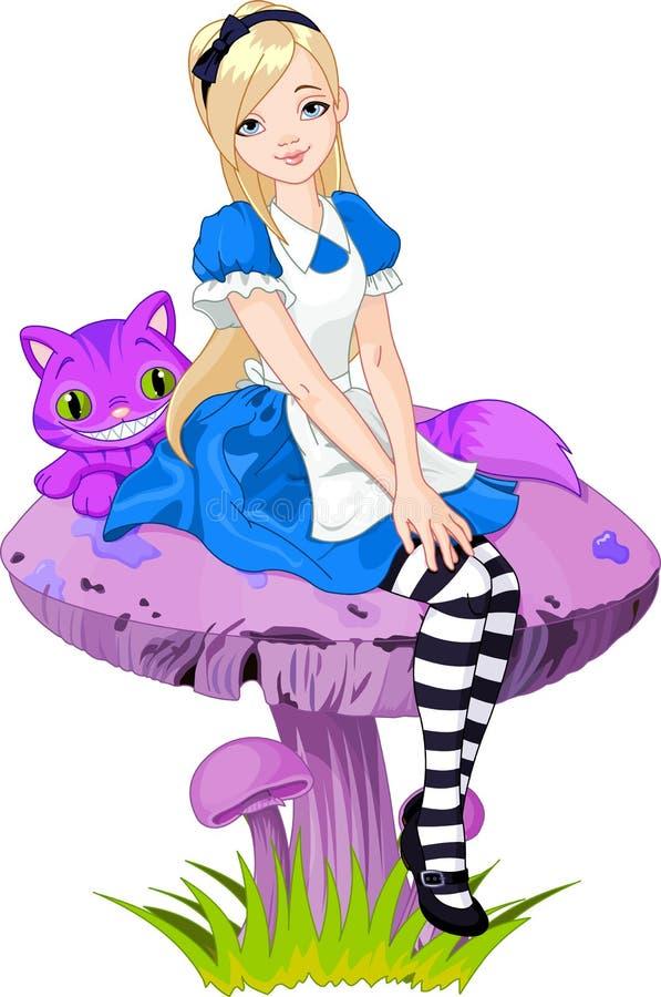 Alice im Märchenland stock abbildung