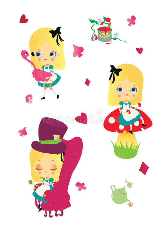 Alice im Märchenland lizenzfreies stockfoto