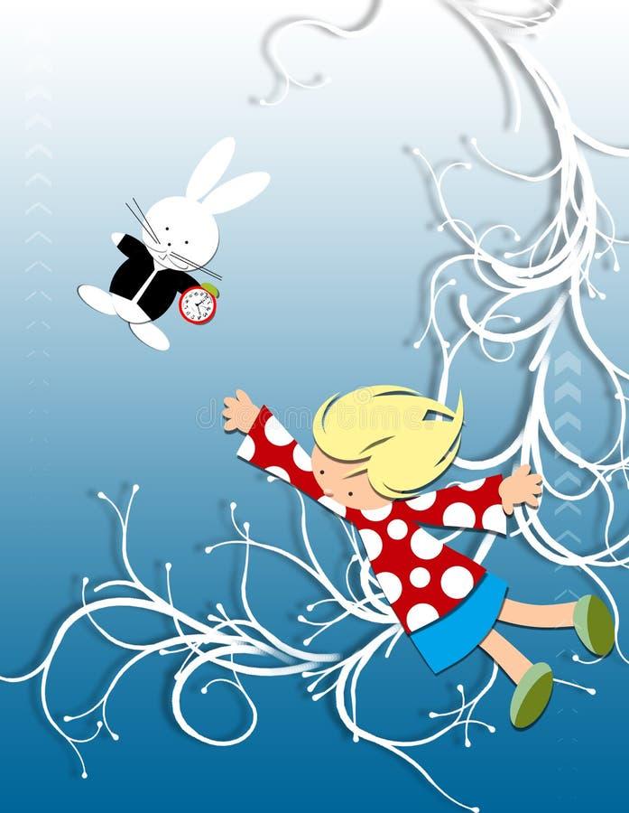Alice im Märchenland stockfotos