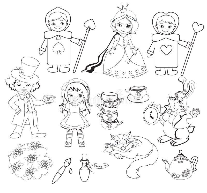alice kraina cudów kolorystyka również zwrócić corel ilustracji wektora ilustracja wektor