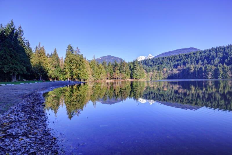 Alice lake at winter time. British Columbia, Canada royalty free stock image