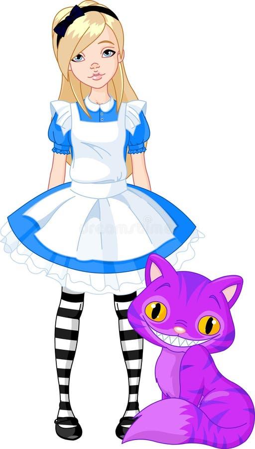 Alice nel paese delle meraviglie illustrazione di stock