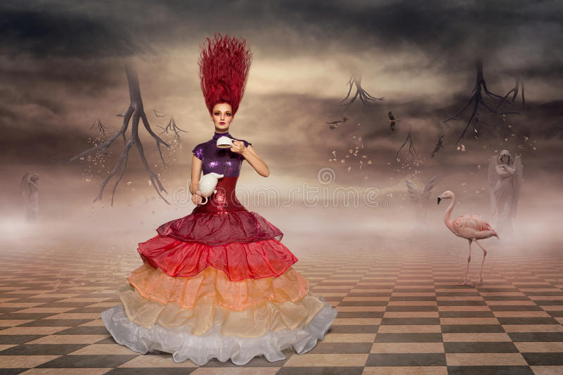 Alice no país das maravilhas imagens de stock royalty free