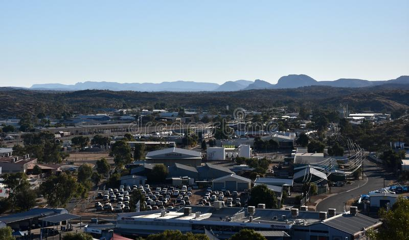View from ANZAC Hill Alice Springs royalty free stock photography