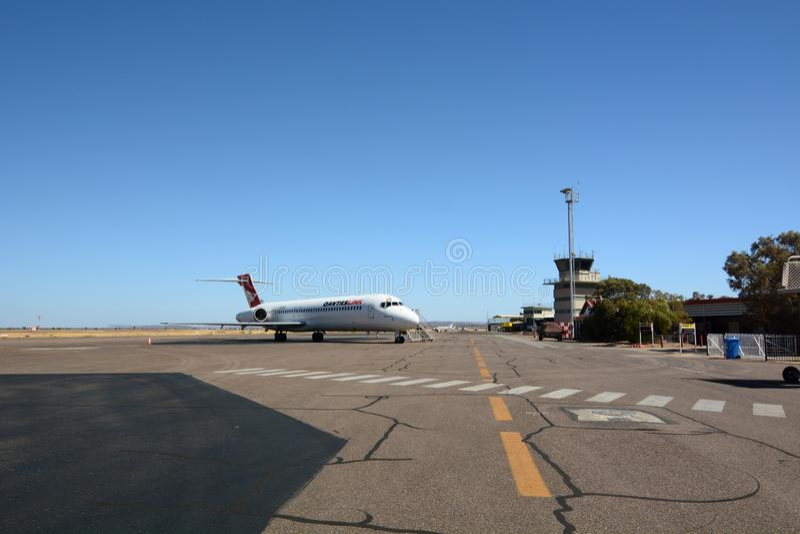 Alice Springs-Flughafen Rote Mitte K?nige Creek Station australien stockbilder
