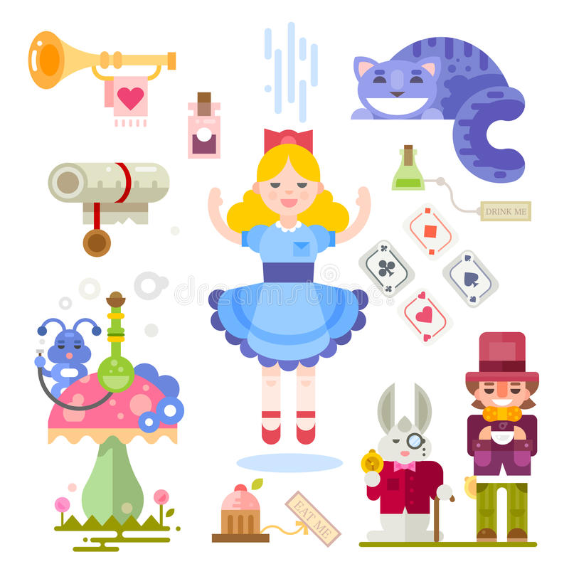 Alice in sprookjesland vector illustratie