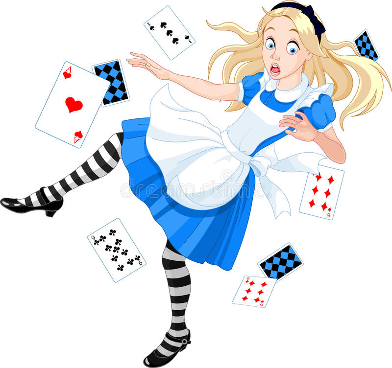 Alice di caduta illustrazione di stock