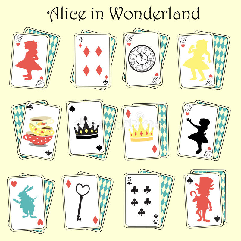 alice underland stock illustrationer