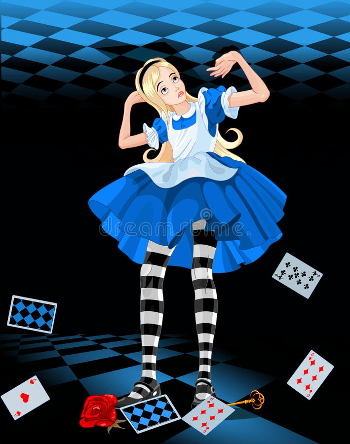 Alice wachsen heran vektor abbildung