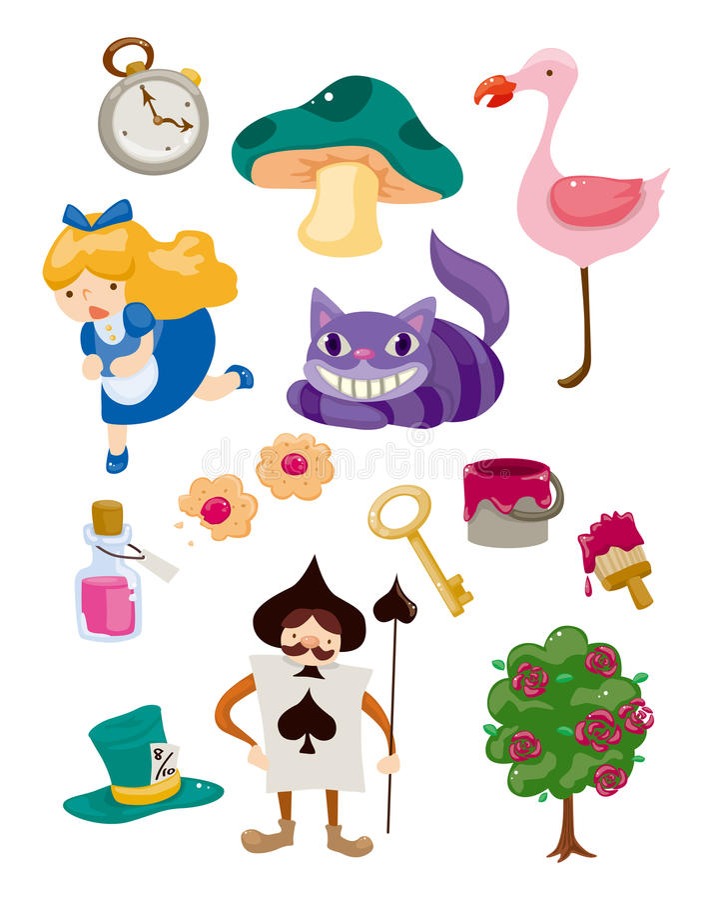 Alice in Wonderland stock illustration