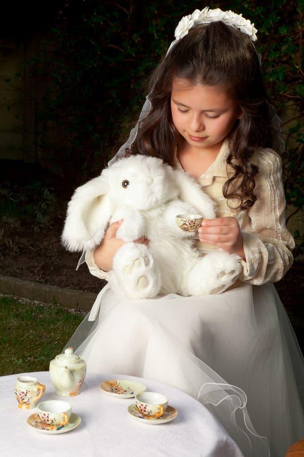 Alice in wonderland tea party stock photos