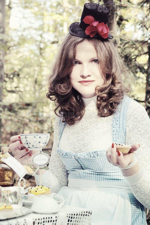 Alice in Wonderland Tea party stock image