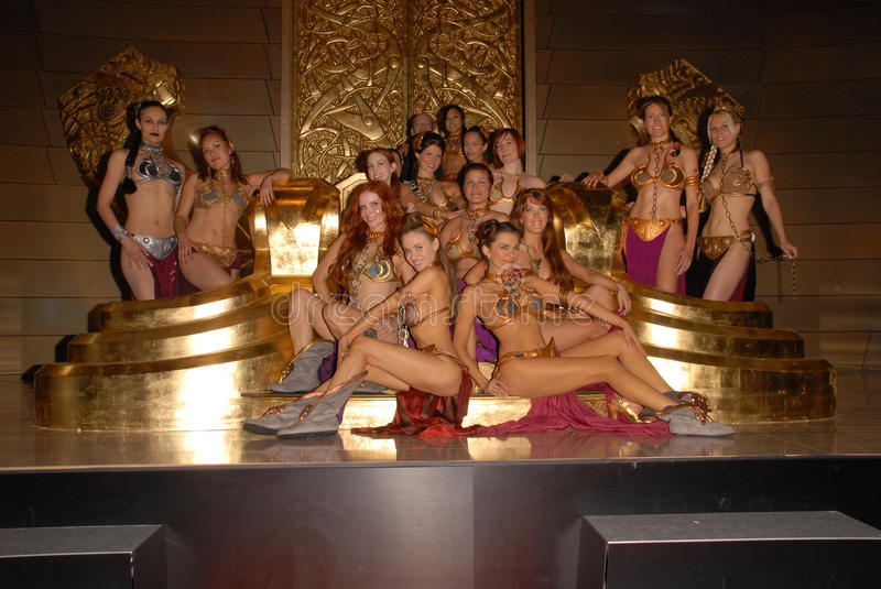 Alicia Arden,Paula LaBaredas,Phoebe Price,Group Photo. Jamin Fite with Alicia Arden, Paula Labaredas, Phoebe Price and the LeiasMetalbikini.com models at the stock image