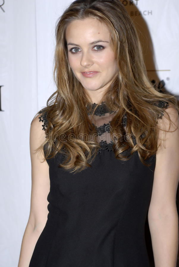 Alicia Silverstone On The Red Carpet  Editorial Stock Photo