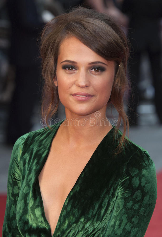 Alicia Vikander photographie stock