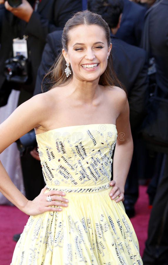 Alicia Vikander photo libre de droits
