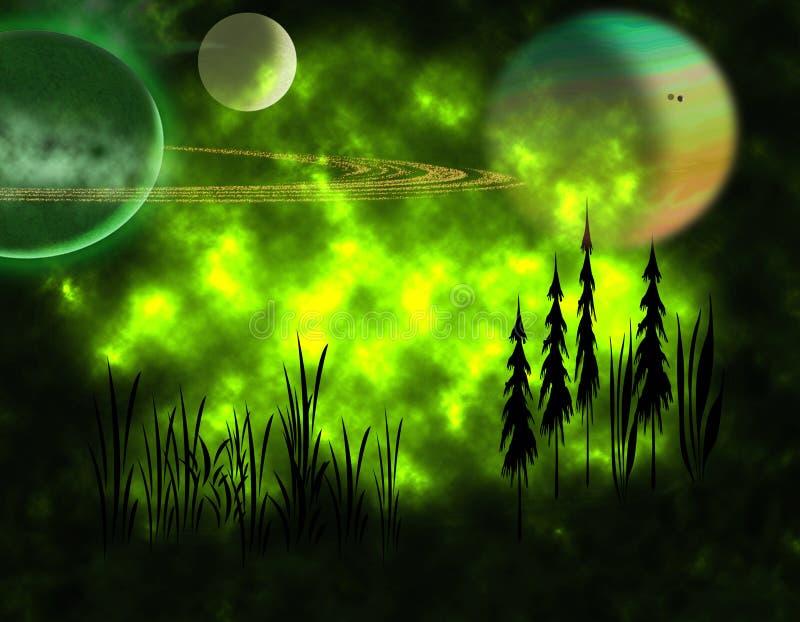 alien ландшафт бесплатная иллюстрация