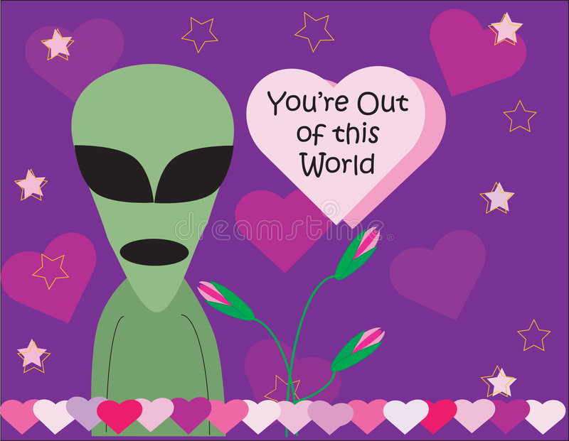 alien Валентайн дня s иллюстрация штока