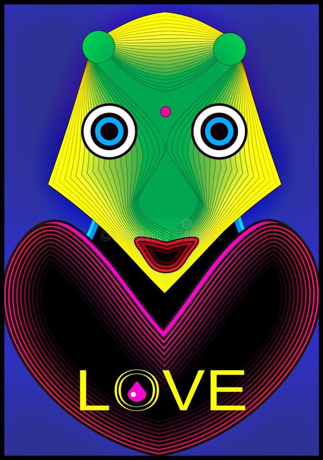 Alien влюбленность Стоковые Изображения