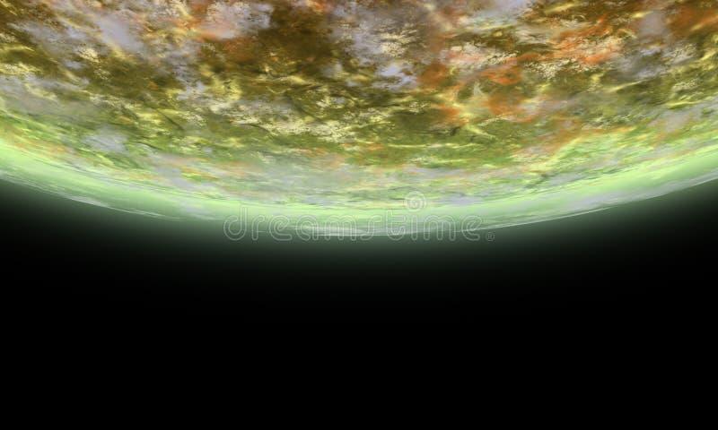 alien горизонт иллюстрация вектора